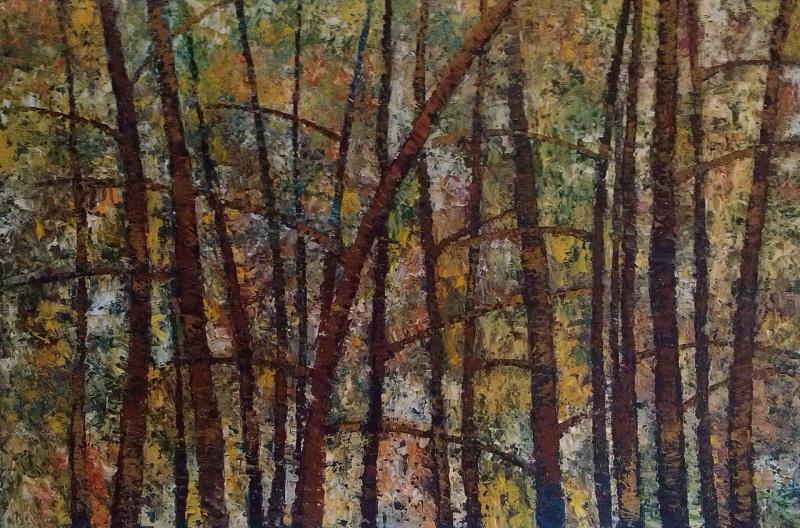 Сквозь деревья  холст, масло Колесникова Ирина - фото 1