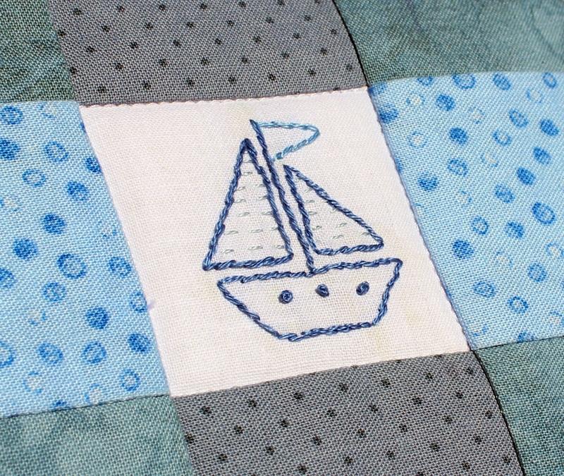 """Набор """"Роза ветров"""" одеяло и подушка  Хлопковая ткань, мулине, Королева Дарья - фото 6"""
