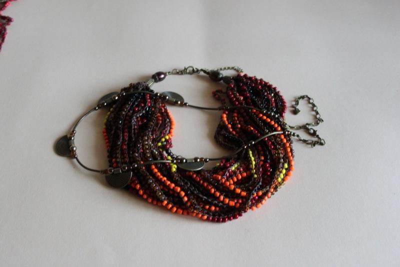 Комплект из двух ожерелий 2в1 Разноцветный бисер крупный, стекло, ге Шкварок Наталья - фото 4