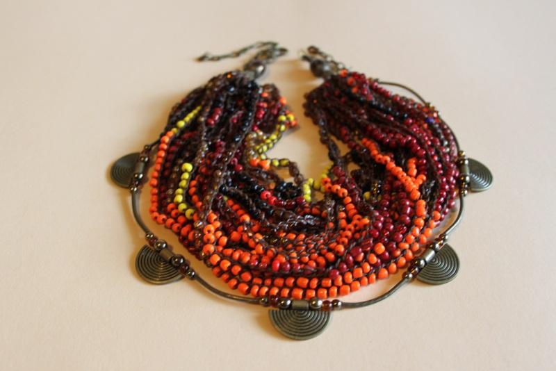 Комплект из двух ожерелий 2в1 Разноцветный бисер крупный, стекло, ге Шкварок Наталья - фото 6