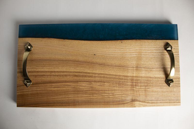 Доска Pride&Joy для сервировки с эпоксидной смолы и дерева (ясень) 07epxpl  эпоксидная смола и дерево Костюк Эдуард - фото 2