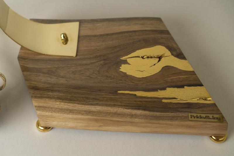 ДЕКОРАТИВНЫЙ СВЕТИЛЬНИК PRIDE&JOY GOLDEN NUGGET 02LOZ  дерево, орех, металл, авт Костюк Эдуард - фото 6