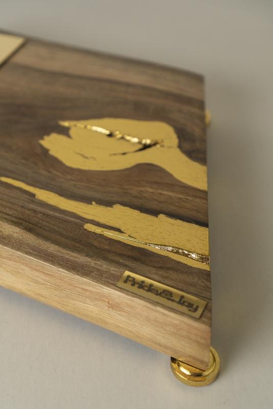 ДЕКОРАТИВНЫЙ СВЕТИЛЬНИК PRIDE&JOY GOLDEN NUGGET 02LOZ  дерево, орех, металл, авт Костюк Эдуард - фото 4