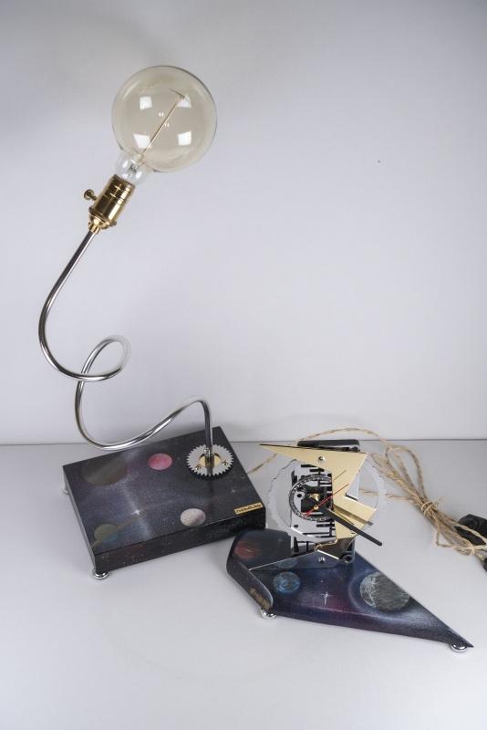 ДЕКОРАТИВНАЯ ЛАМПА PRIDE&JOY SPACE 02LC  дерево, метал, авто-детал Костюк Эдуард - фото 3