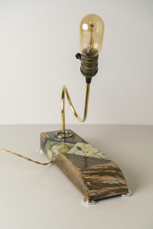 ДЕКОРАТИВНЫЙ СВЕТИЛЬНИК PRIDE&JOY ЭТНО 20LIWE ЗЕЛЕНЫЙ  дерево, метал, авто-детал Костюк Эдуард - фото 4