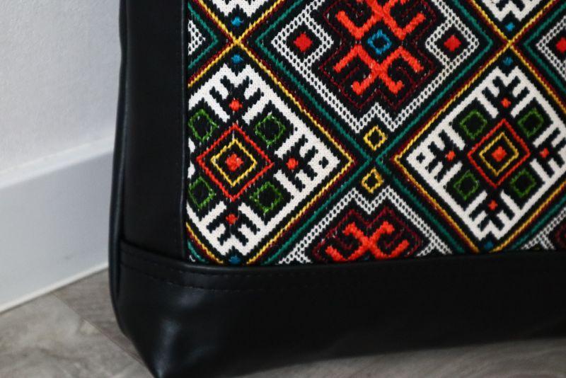 Сумка из натуральной итальянской кожи и ручной вышивки Черный Натуральная итальянская к Alonett - фото 8