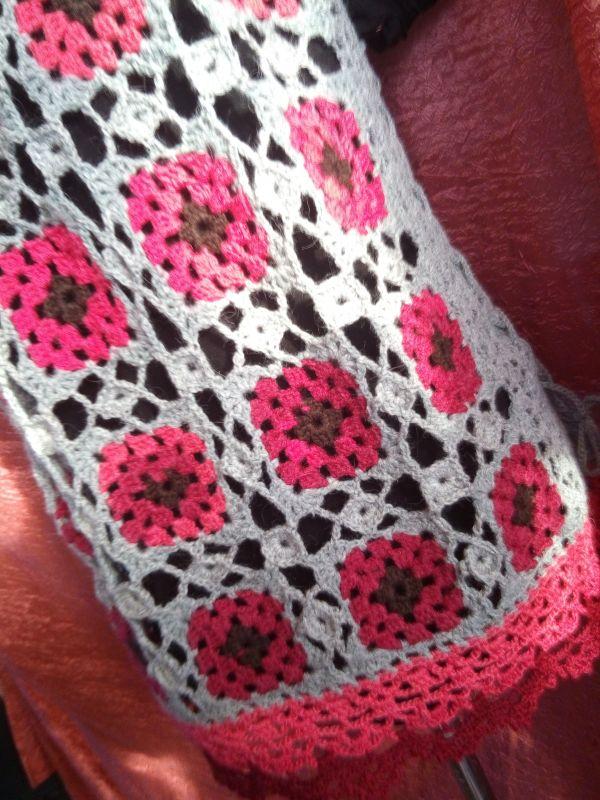 Цветочный Серый Шерсть 75% Кравчук Раиса - фото 8
