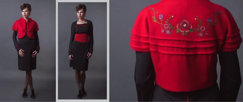 Платье и камизоля (жилет)  платье - трикотаж; камизо Креховець Ульяна - фото 1