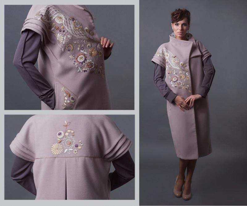 Комплект-пальто и платье  платье - трикотаж; пальто Креховець Ульяна - фото 1