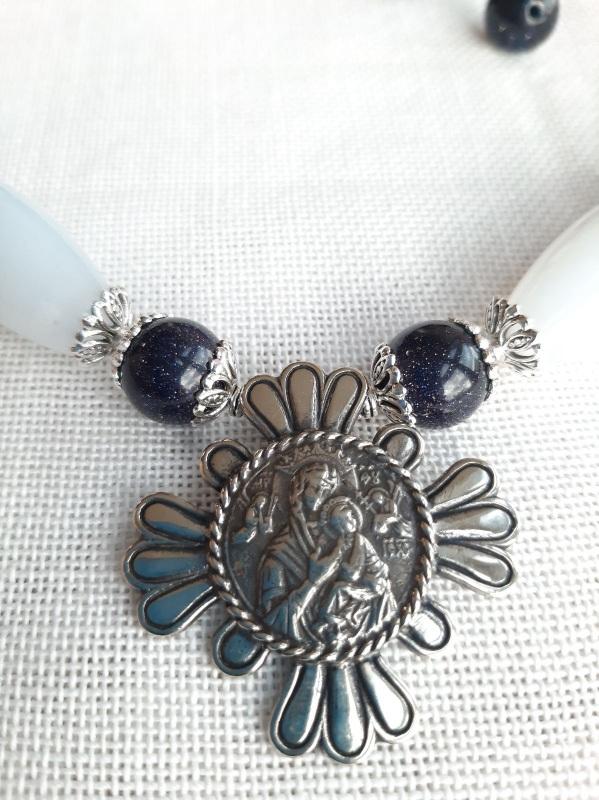 "Ожерелье ""Океан"" Голубой Голубой сапфирин, синий а Кротько Марина - фото 3"
