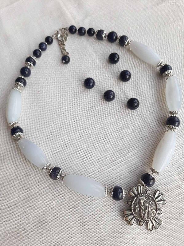 "Ожерелье ""Океан"" Голубой Голубой сапфирин, синий а Кротько Марина - фото 2"