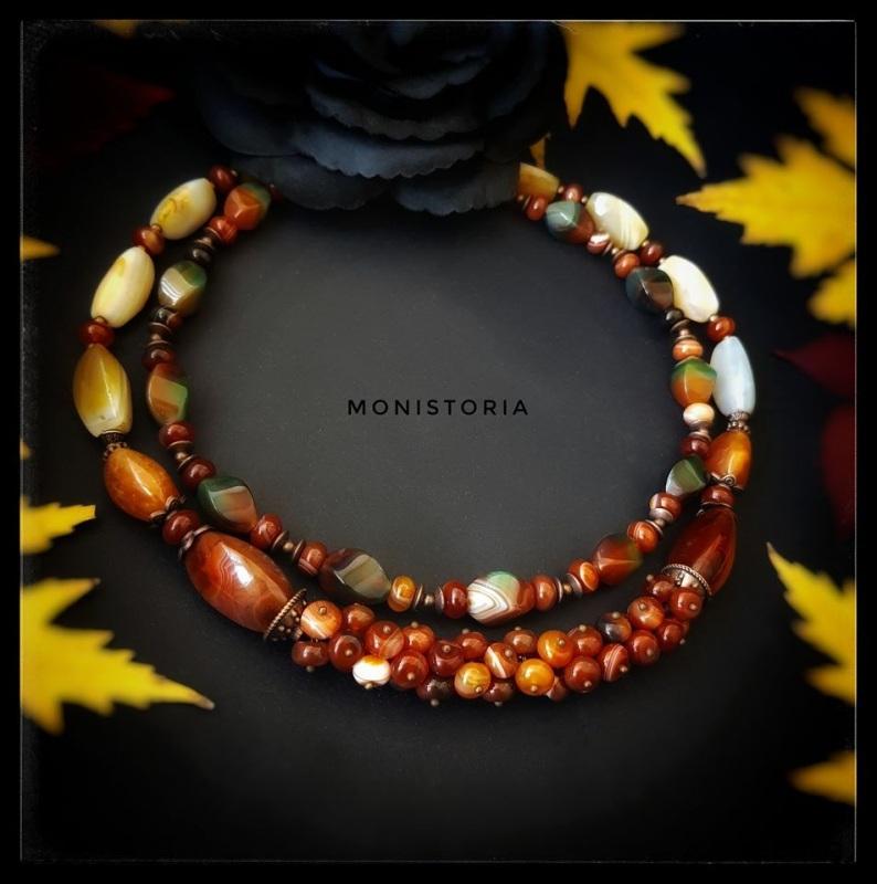 Ожерелье из сердолика и агата Красный сердолик, агат Куличенко Ирина - фото 3