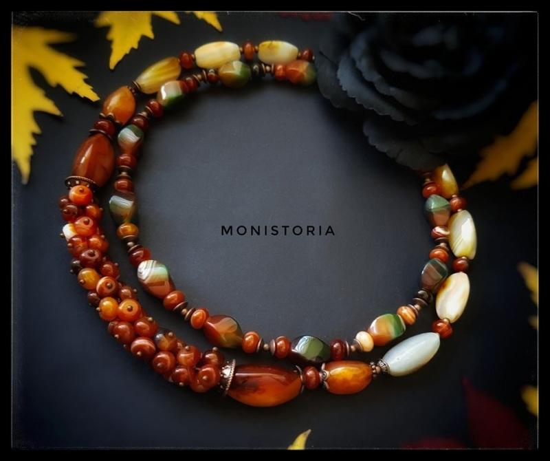 Ожерелье из сердолика и агата Красный сердолик, агат Куличенко Ирина - фото 2