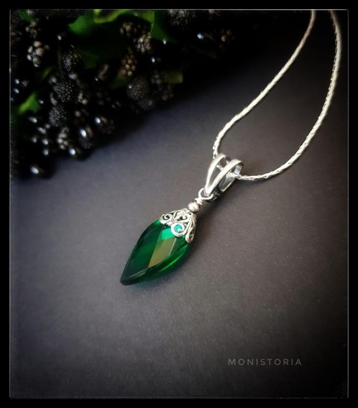 Кулон с зеленым кварцем (без цепочки) Зеленый Серебро, кварц. Куличенко Ирина - фото 2