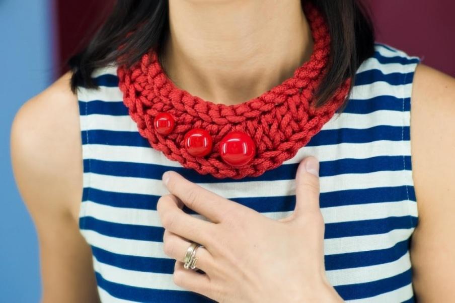 Pectoral 1 Красный Шнур текстильный, стойкая Кирмасова Олеся - фото 1