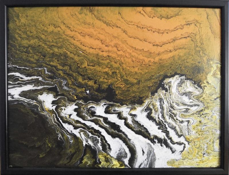 Водопад  Холст на подрамнике, акри Кушнаренко Инна - фото 1