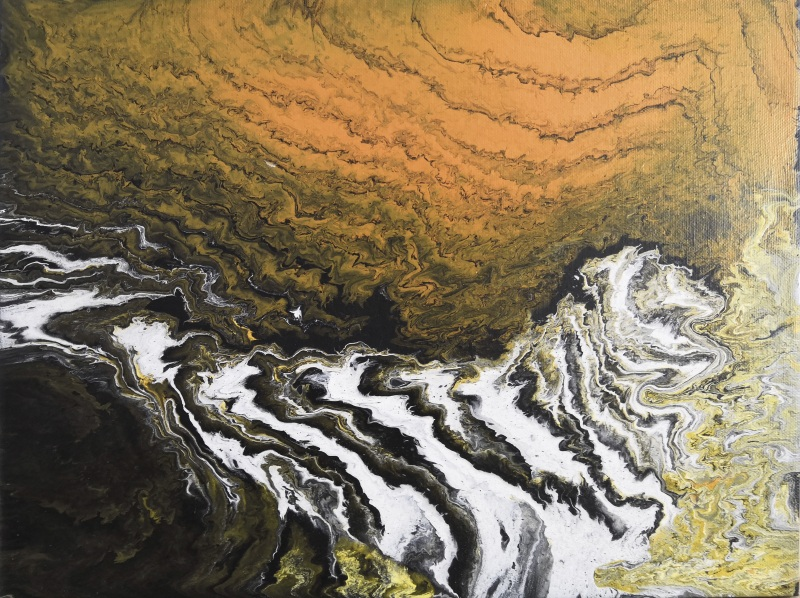 Водопад  Холст на подрамнике, акри Кушнаренко Инна - фото 3