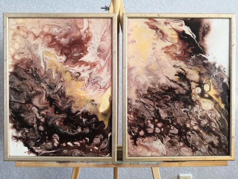 Диптих Три шоколада  Холст на подрамнике Кушнаренко Инна - фото 1