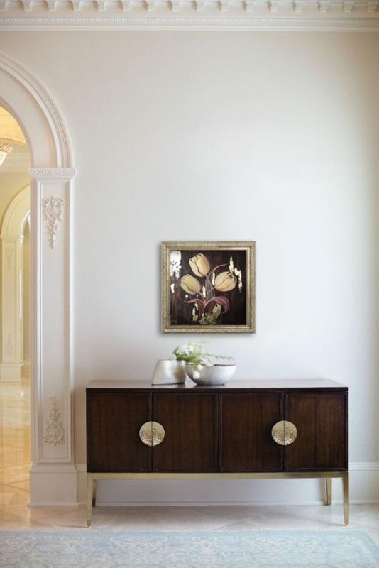 Золотые тюльпаны  Холст на подрамнике, акри Кушнаренко Инна - фото 5