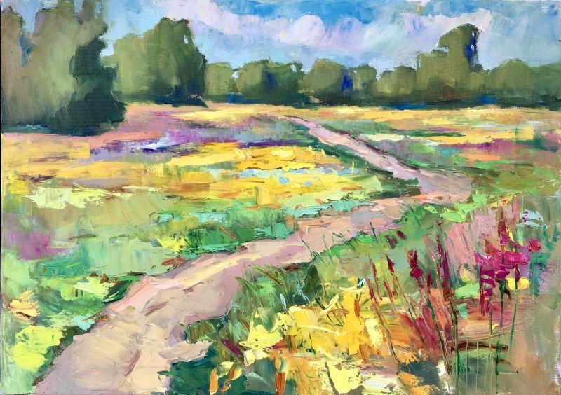 Летние травы  Масляные краски, холст, д Кислякова Алла - фото 1