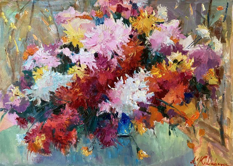 Разноцветный натюрморт  Масляные краски, холст, д Кислякова Алла - фото 1