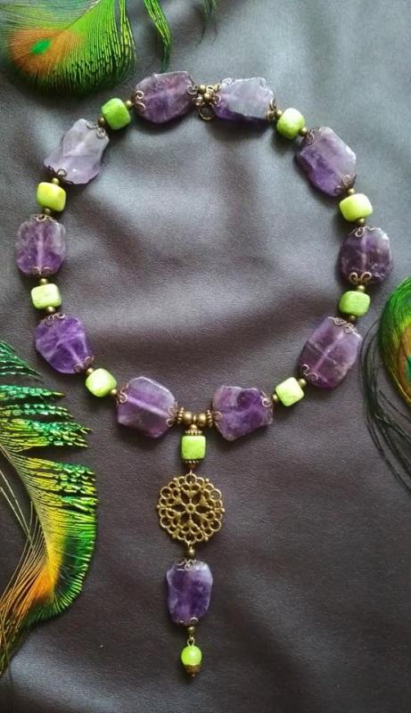 Амазонка Зелений онікс, камені фіолетового Кіраль Ірина - фото 5