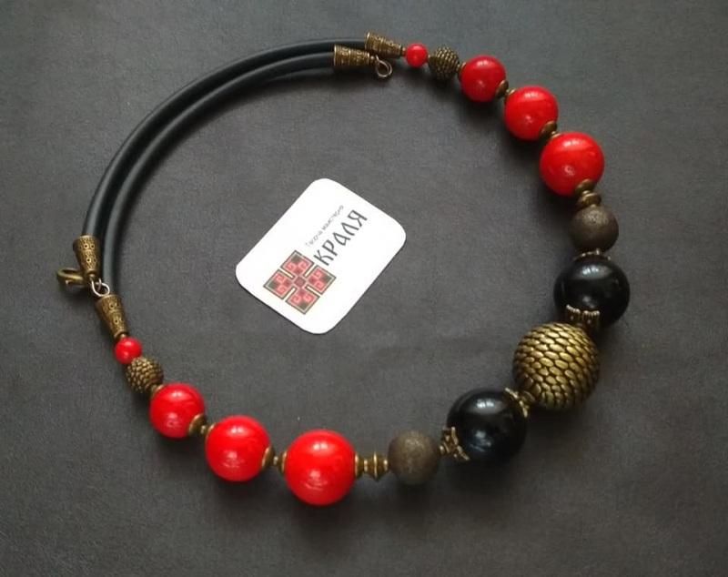 """""""Арт"""" Червоний Пресований корал та агат, Кіраль Ірина - фото 1"""