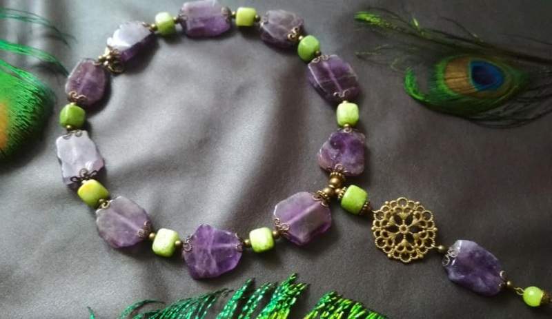 Амазонка Зелений онікс, камені фіолетового Кіраль Ірина - фото 2