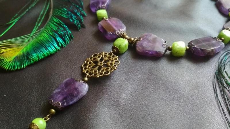 Амазонка Зелений онікс, камені фіолетового Кіраль Ірина - фото 3