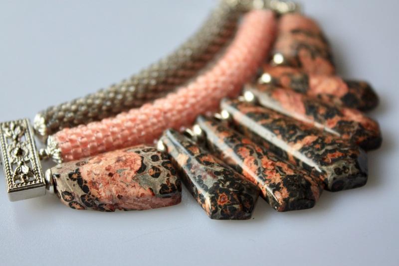 Нежность на рассвете  Яшма, бисер, металлическа Коваленко Оксана - фото 4