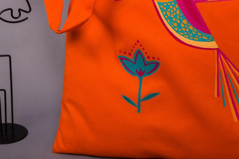 Шопер Оранжевый саржа Макар Марьяна - фото 4