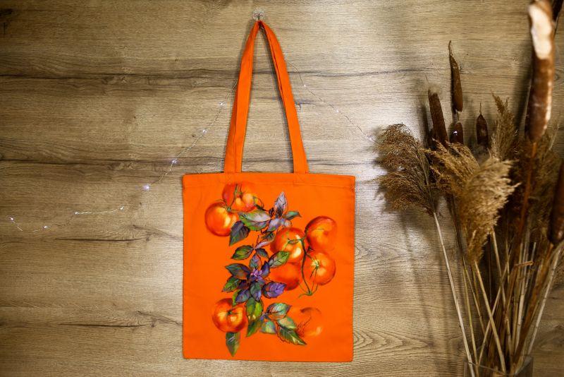 Шопер Оранжевый ткань Макар Марьяна - фото 1