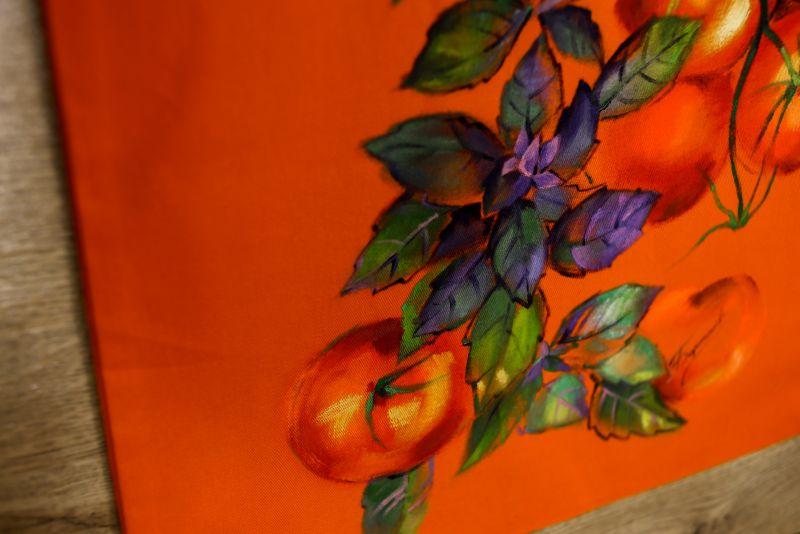 Шопер Оранжевый ткань Макар Марьяна - фото 4