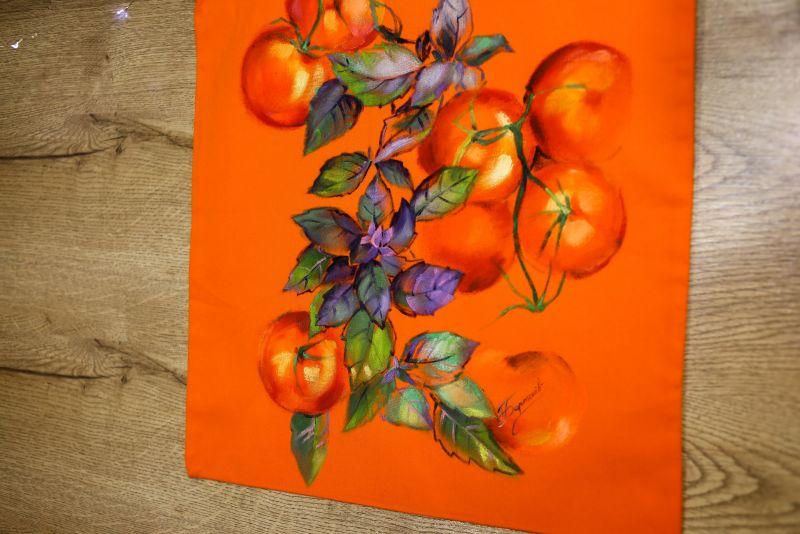 Шопер Оранжевый ткань Макар Марьяна - фото 2