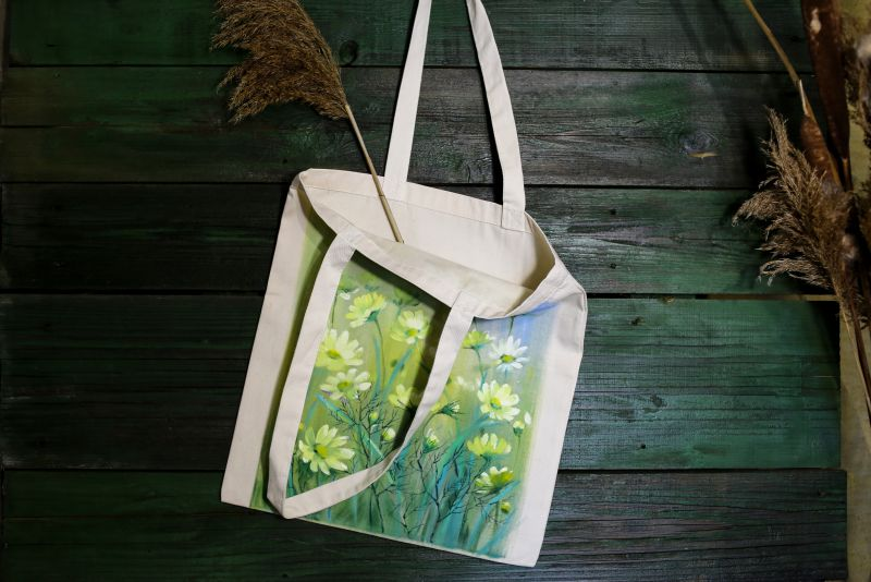 Шопер Зеленый ткань Макар Марьяна - фото 5