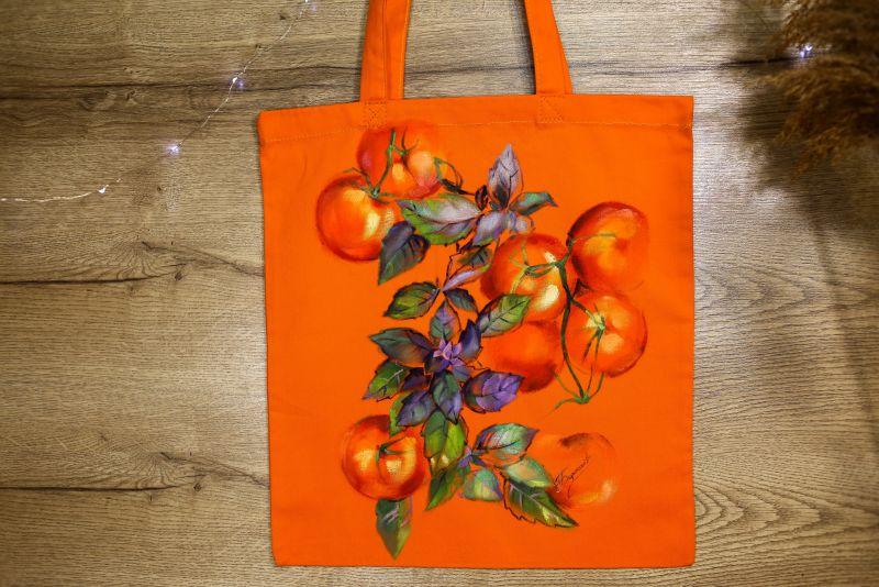 Шопер Оранжевый ткань Макар Марьяна - фото 6
