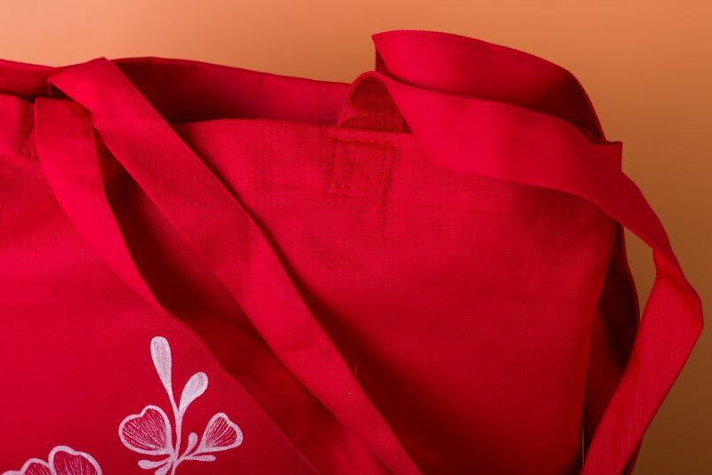 Шопер Красный саржа Макар Марьяна - фото 4