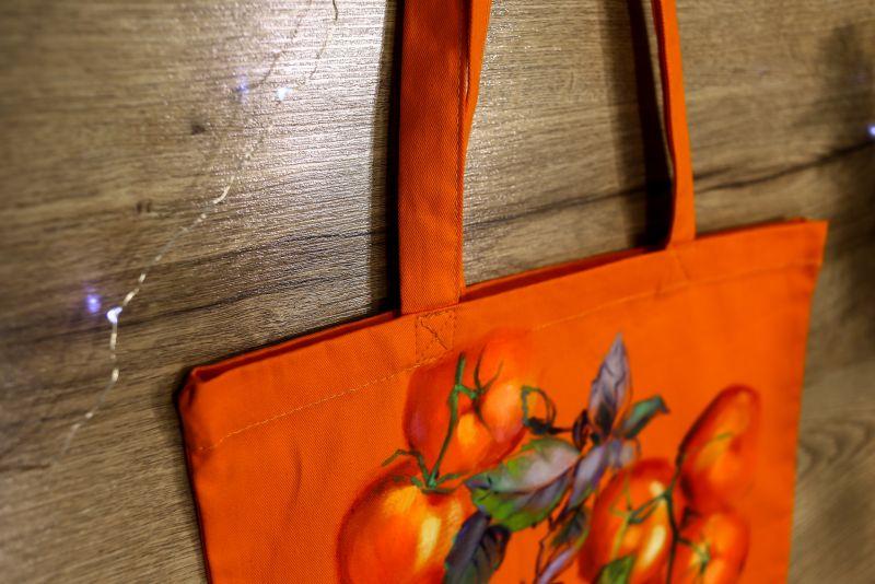 Шопер Оранжевый ткань Макар Марьяна - фото 5