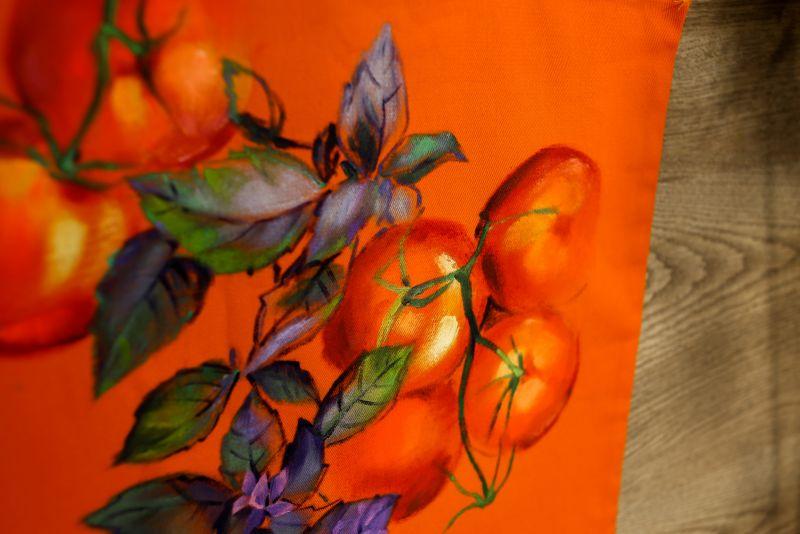 Шопер Оранжевый ткань Макар Марьяна - фото 3