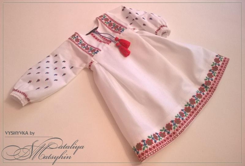Платье-вышиванка детская Розовый 100% cotton Мацигин Наталья - фото 1