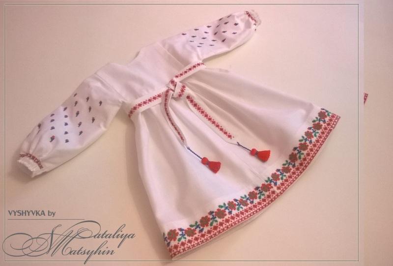 Платье-вышиванка детская Розовый 100% cotton Мацигин Наталья - фото 2
