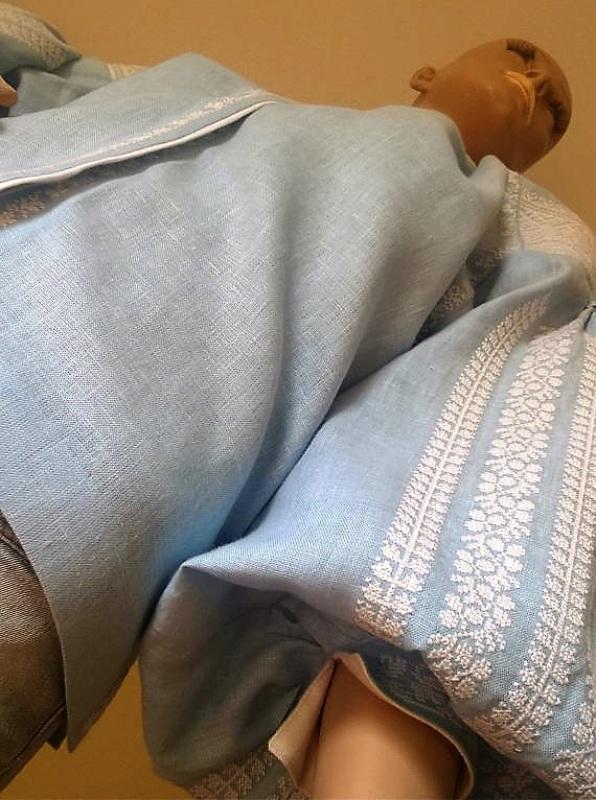 Женская вышиванка Голубой 100% высококачественный л Мацигин Наталья - фото 8