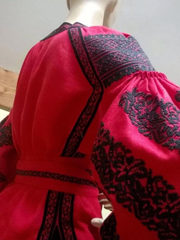 Вышиванка Красный 100% лен Мацигин Наталья - фото 3