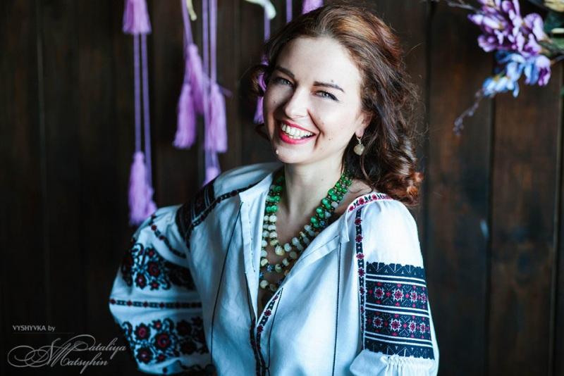 Вышиванка женская Белый 100% высококачественный л Мацигин Наталья - фото 1
