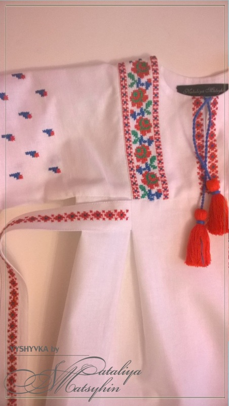 Платье-вышиванка детская Розовый 100% cotton Мацигин Наталья - фото 3