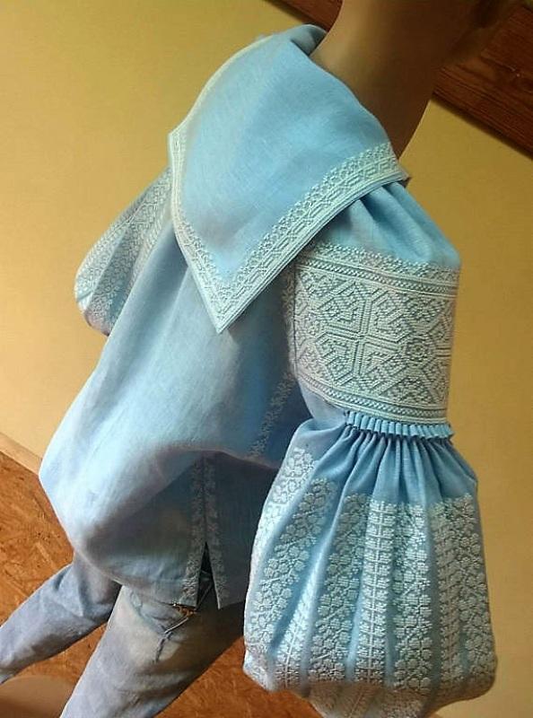 Женская вышиванка Голубой 100% высококачественный л Мацигин Наталья - фото 6