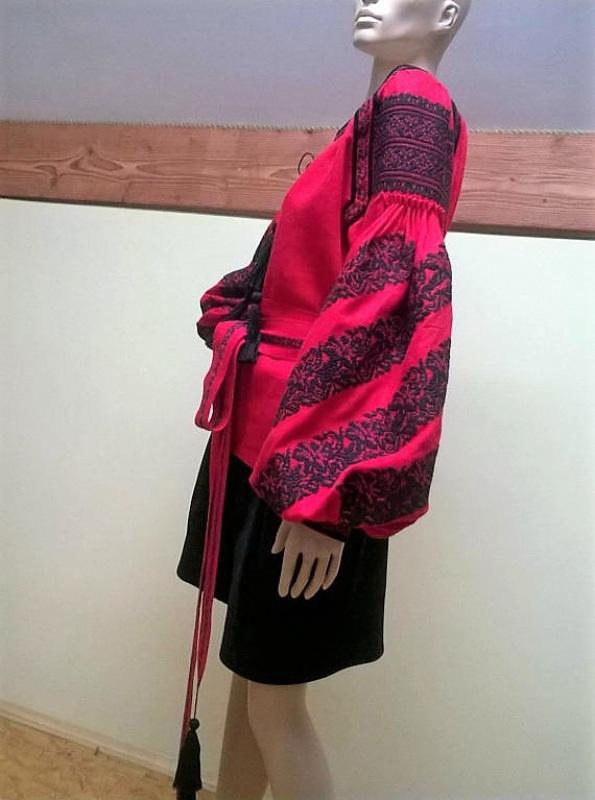Вышиванка Красный 100% лен Мацигин Наталья - фото 4