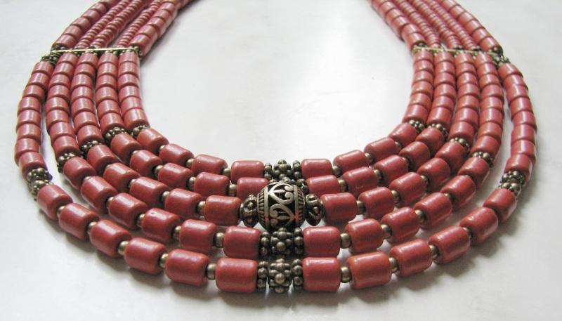 Ожерелье из керамики Красный Керамика ручной работы, б Матвиив Оксана - фото 1