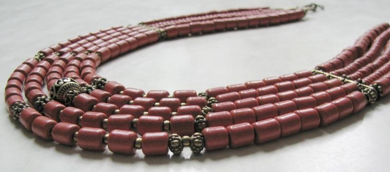 Ожерелье из керамики Красный Керамика ручной работы, б Матвиив Оксана - фото 2