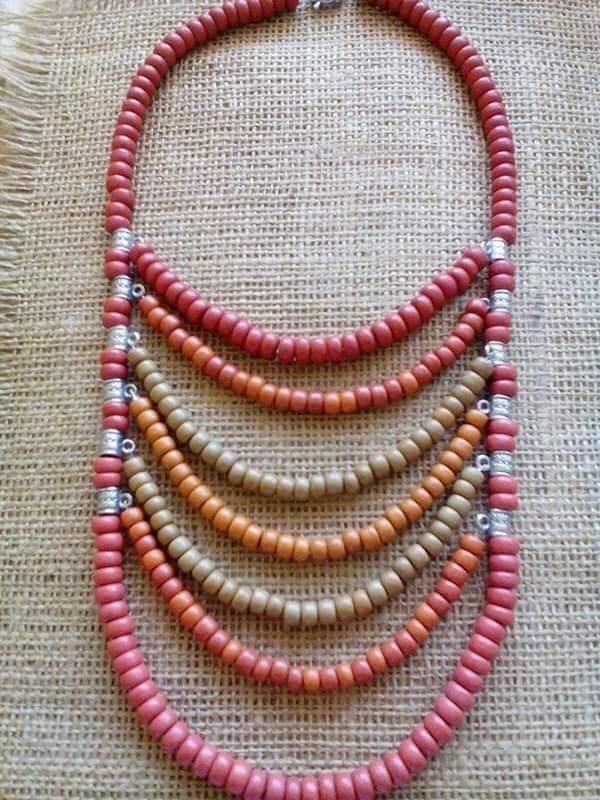 Оранжевое Разноцветный Керамика, латунная фурнит Мазурок Елена - фото 1